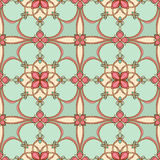 Turquoise floral pattern Royalty Free Stock Photography