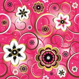Seamless floral pink pattern Stock Photography