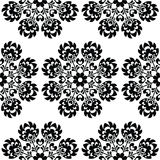 Seamless floral Polish folk art pattern - wzory lowickie, wycinanki Stock Images