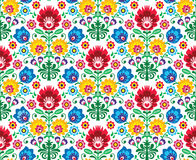 Seamless Floral Polish Pattern - Ethnic Background Royalty Free Stock Images