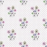 Seamless floral polka dot background Royalty Free Stock Photography