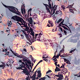 Seamless floral print Royalty Free Stock Images