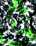 Seamless floral print with Ikat Stock Photography