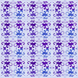 Seamless floral purple pattern Royalty Free Stock Photography
