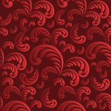 Seamless floral red background Stock Photo