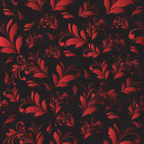 Seamless floral red background Stock Images