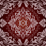 Seamless floral red pattern Royalty Free Stock Photos