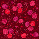 Seamless floral red vector background Royalty Free Stock Image