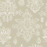 Seamless floral retro background pattern in . Henna paisle Royalty Free Stock Image