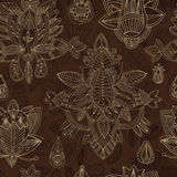 Seamless floral retro background pattern in . Henna paisle Stock Photography
