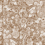 Seamless floral retro doodle grunge  pattern in Stock Image