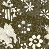 Seamless floral retro pattern Stock Images