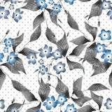 Seamless floral retro pattern background flowers ornament textil Royalty Free Stock Photo