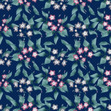 Seamless floral retro pattern background flowers ornament textil Royalty Free Stock Photography