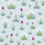 Seamless floral retro pattern of classic style. Floral motif in pastel colors Royalty Free Stock Photos