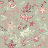 Seamless floral romantic wallpaper Royalty Free Stock Photography
