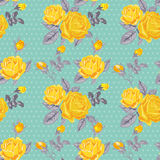 Seamless Floral Shabby Chic Background Royalty Free Stock Images