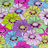 Seamless floral spotty pattern Stock Photo