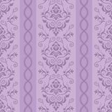 Seamless floral striped pattern Royalty Free Stock Photos
