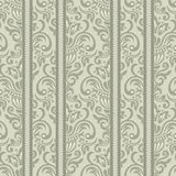 Seamless floral striped pattern Stock Photo
