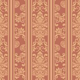 Seamless floral striped pattern Royalty Free Stock Image