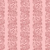 Seamless floral striped pattern. Seamless background with stripes for design, vector Illustration stock illustration