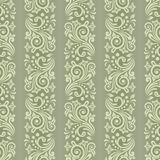 Seamless floral striped pattern. Seamless background with stripes for design, vector Illustration vector illustration