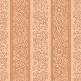Seamless floral striped pattern. Seamless background with stripes for design, vector Illustration royalty free illustration