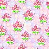 Seamless Floral Stylized Paper Pattern Royalty Free Stock Photos