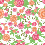 Seamless floral summer meadow pattern. Royalty Free Stock Photo