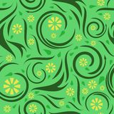 Seamless floral swirl background Royalty Free Stock Image