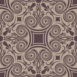 Seamless floral swirly ornament Royalty Free Stock Photo