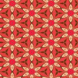 Seamless Floral Textile Pattern. A completely seamless abstract tile able paper pattern royalty free stock photos