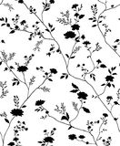 Seamless floral textile pattern. Seamless floral vector textile pattern royalty free illustration