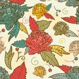 Seamless floral texture Stock Photo