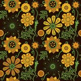 Seamless floral texture. Copy that square to the side and you'll Royalty Free Stock Image