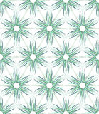 Seamless floral texture. Hexagons and triangles pattern. Stock Photos