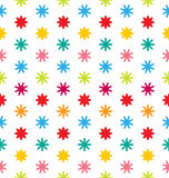 Seamless Floral Texture with Multicolored Flowers Royalty Free Stock Photography