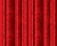 Seamless floral texture on the red curtains. Seamless floral texture on the red volumetric curtains (background). Vintage floral texture (drapes Stock Illustration