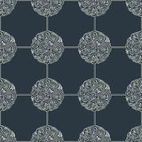 Seamless floral tile background pattern in vector Stock Image