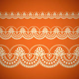Seamless floral tiling borde Royalty Free Stock Image