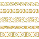 Seamless floral tiling border Royalty Free Stock Images