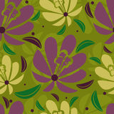 Seamless floral tropical pattern. (from my big Seamless pattern collection Stock Images