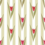 Seamless floral tulip pattern Stock Photos