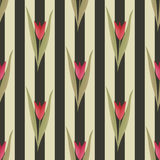 Seamless floral tulip pattern Royalty Free Stock Photo