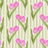 Seamless floral tulip pattern background Royalty Free Stock Photography