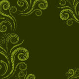 Seamless floral twirl pattern. Seamless floral grunge twirl pattern (From my big Seamless collection Royalty Free Stock Photo