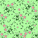 Seamless floral vector pattern for disign. Wallpaper royalty free illustration