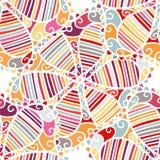 Seamless ethnic boho floral vector pattern royalty free illustration