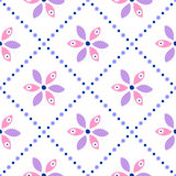 Seamless floral vector pattern. Ornamental background with flowers. Decorative repeating ornament, Royalty Free Stock Photography
